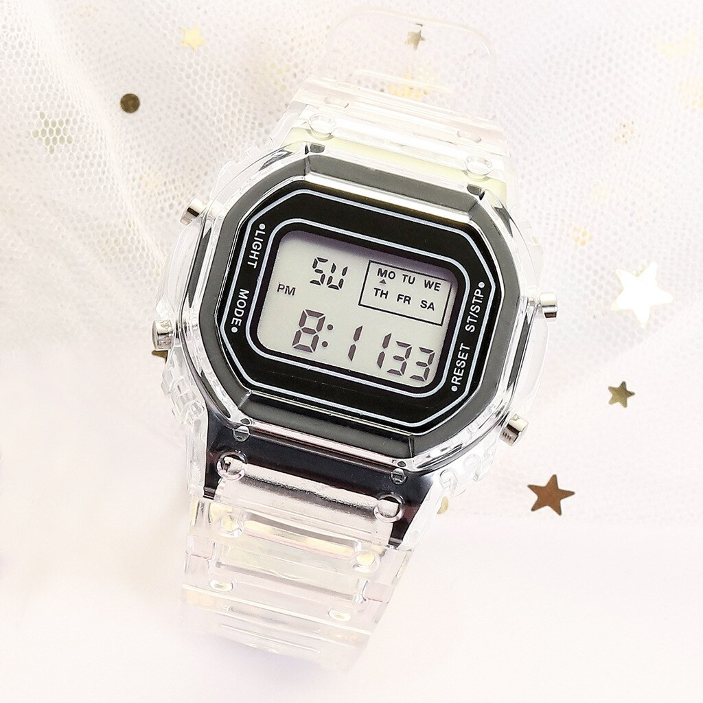 H015767bb2755426e802ec58483b58c9ec - New Fashion Transparent Electronic Watch LED Ladies Watch Sports Waterproof Electronic Watch Candy Multicolor Student Gift