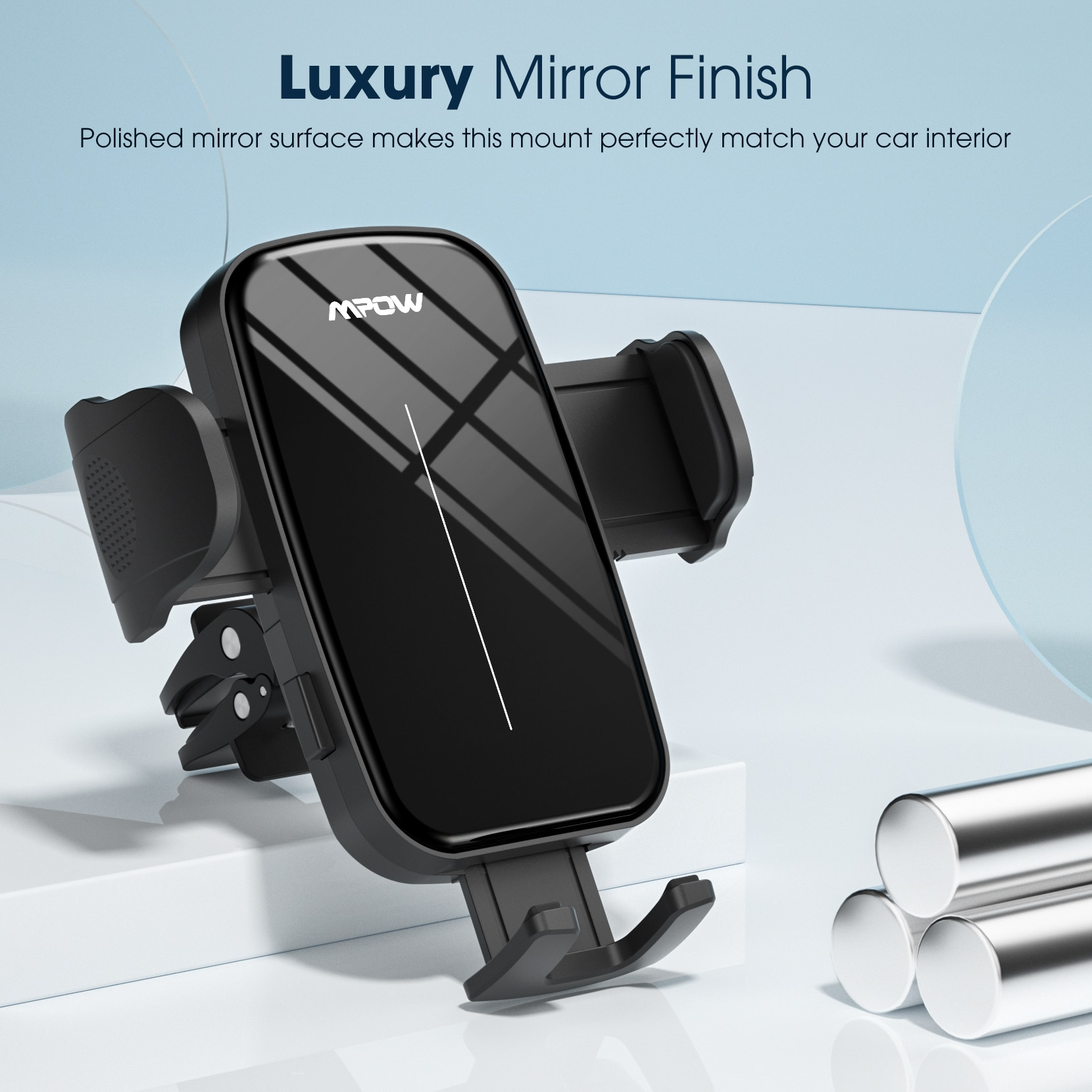 H01bf9e8b60e64961bd3cb0a794fc5528H - Mpow CA174 Universal Car Phone Mount Air Vent Car Phone Holder with Stable Clip Compatible with iPhone 12 11 Pro Max XS 8 Galaxy