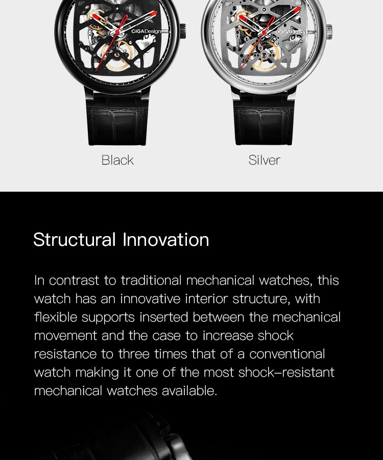 H025217efd9b6484fab3d526a897cf883V - CIGA DESIGN Automatic Mechanical Watch Men Stainless Steel Case Wristwatch Waterproof Skeleton Clock Chinese Style CIGA Watches