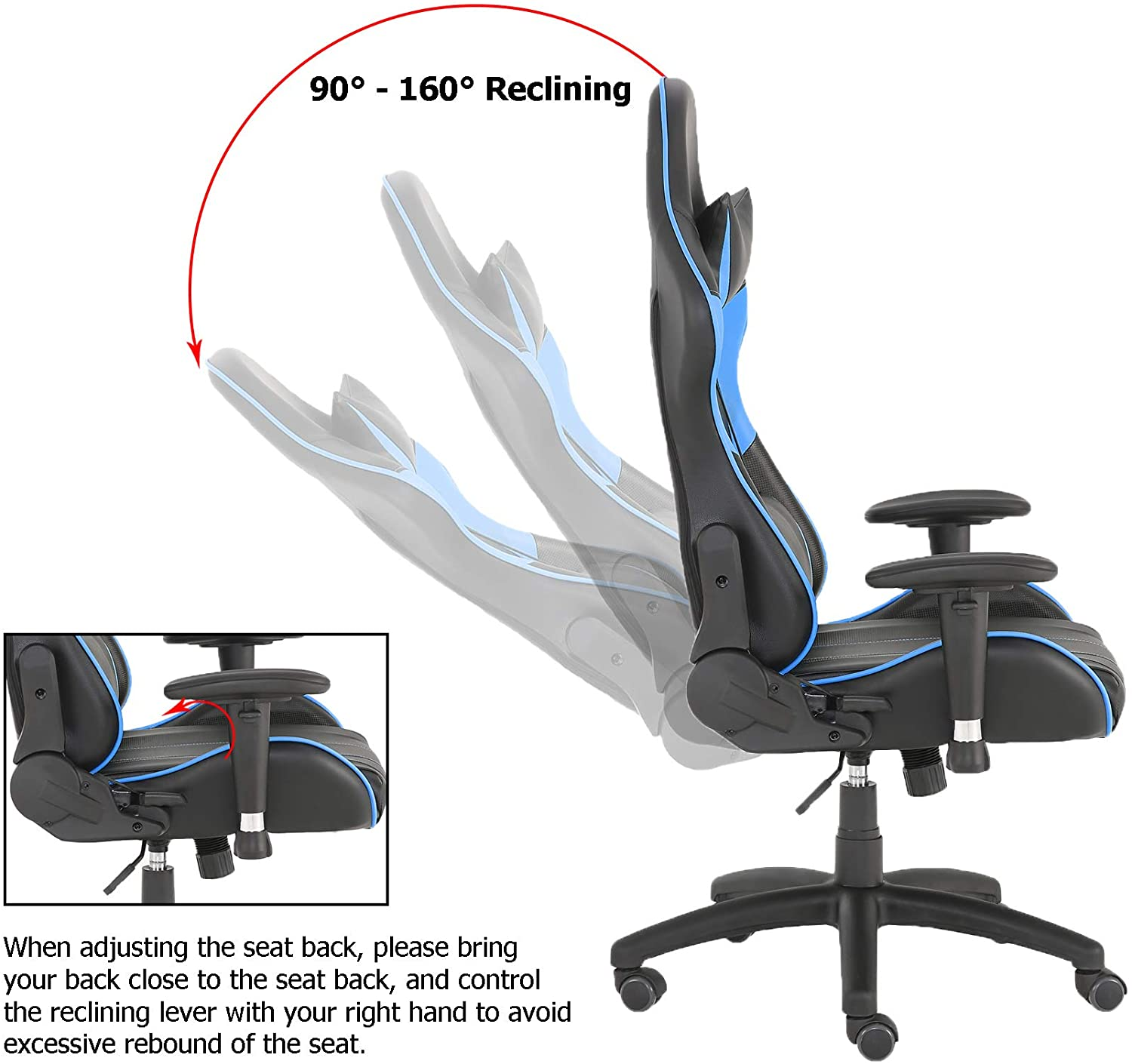 H03a0d20aa2ec4ecbbb9ae44adb59efb4e - Racer Gaming Office Chairs 180 Degree Spin Lounger Computer Chair,Comfortable Armchair Executive Computer Seat,PU Leather