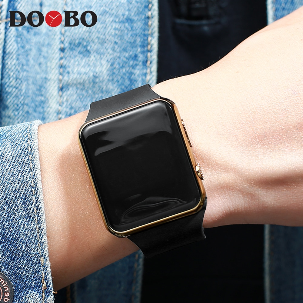 H03d269f1d51e412e9f4943f71b8e7a680 - Fashion Men Watch Women Casual Sports Bracelet Watches White LED Electronic Digital Candy Color Silicone Wrist Watch Children