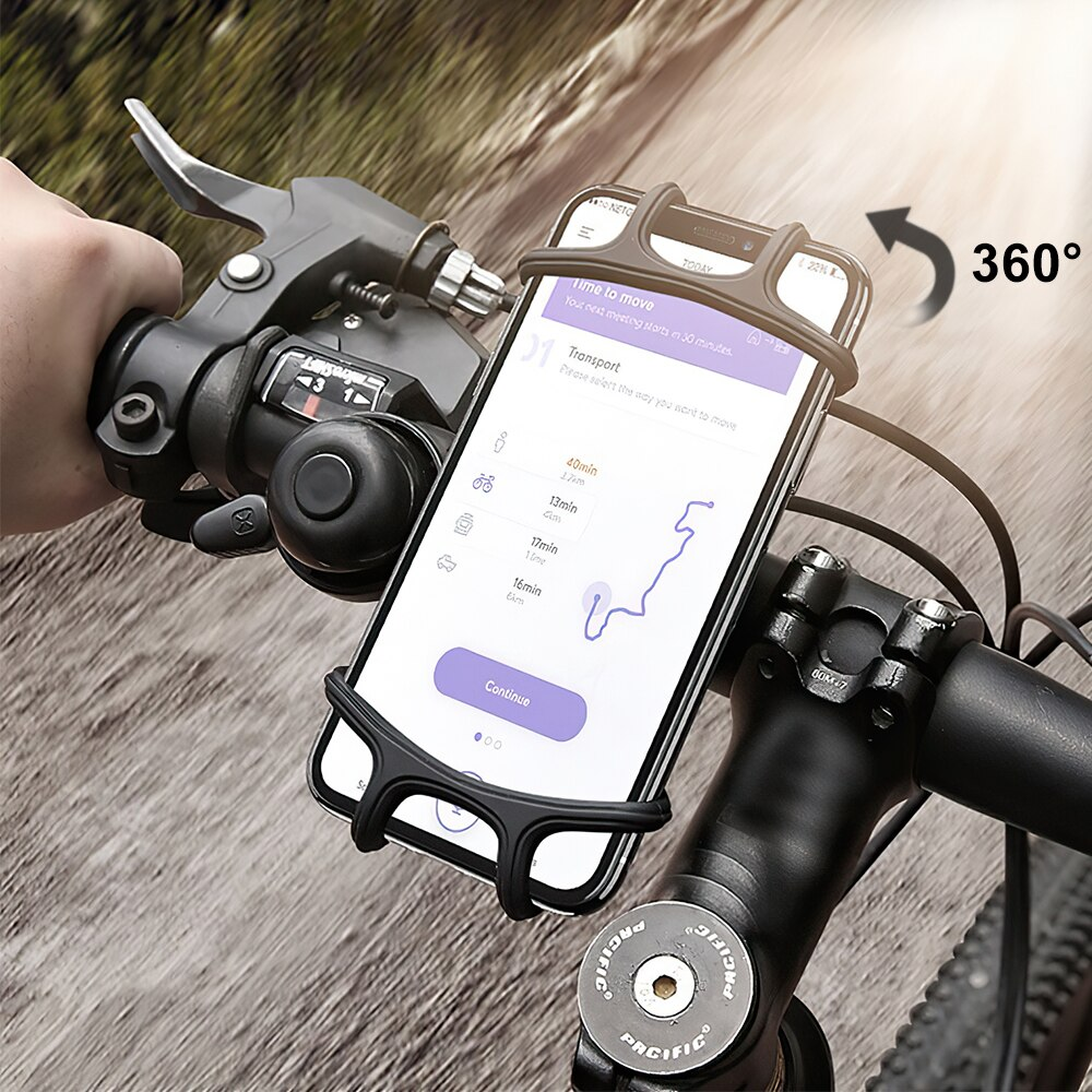 H03d814c85e034201bffa2ea47c13f283F - Bike Phone Holder Silicone Phone Mount Universal for Bicycle Motorcycle Handlebar Stretchy Phone Holster with 360 Rotation