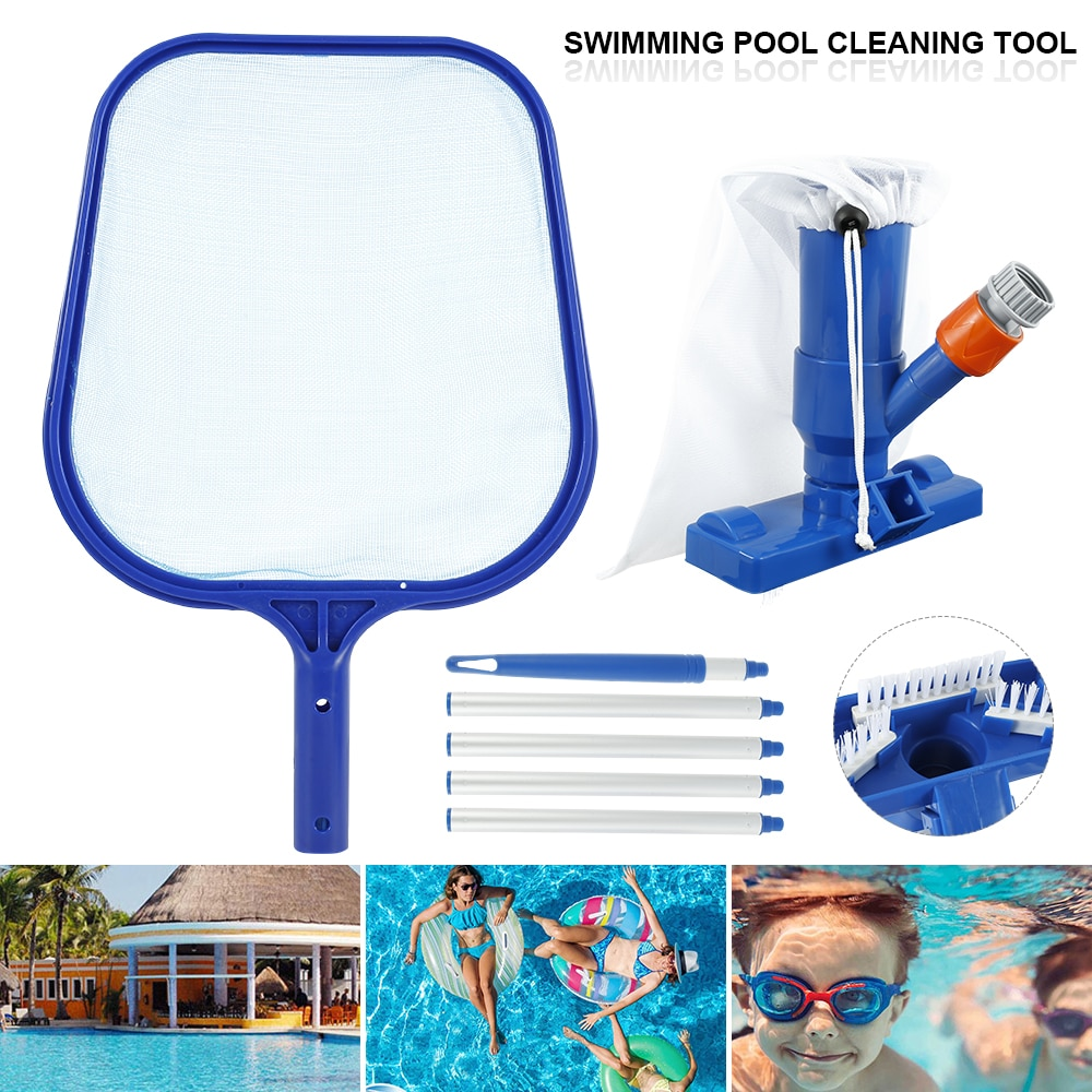 H0453a198dd8d40d38543126c4b998d64H - Swimming Pool Vacuum Cleaner Cleaning Tool Kit Suction Spary Jet Cleaner Head with Net for Swimming Pool Spa Pond Fountain