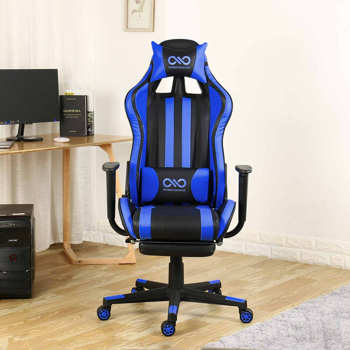 H0492029cbd4a44e8931622cf60d8905f1 - Office Gaming Chair PVC Household Armchair Lift and Swivel Function Ergonomic Office Computer Chair Wcg Gamer Chairs