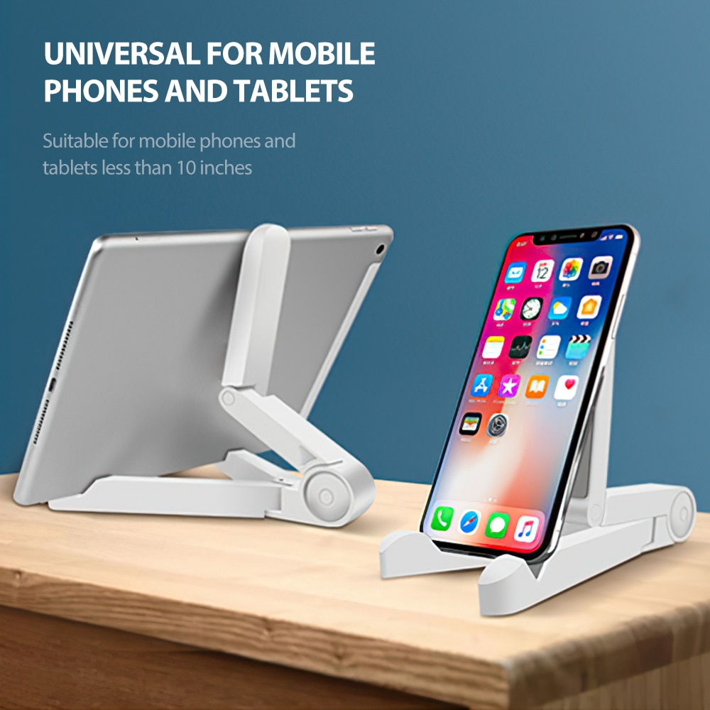 H04d9c384aab24ba7bc53396b0d6a64394 - Mobile Phone Holder Tablet Computer Support Folding Triangle Bracket Desktop Stand Portable Multi Use for Smartphone iPad Office