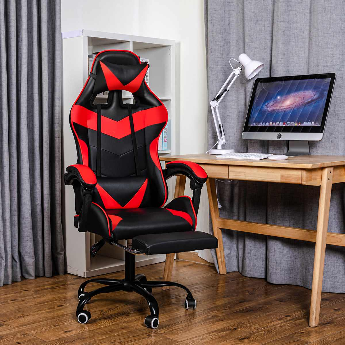 H077d44974f0741d5a1d8c1935da84e06R - Office Chair Gaming Computer Chair Racing Reclining High Back Computer Game Office Chair Ergonomic Desk Chairs Chaise Gaming