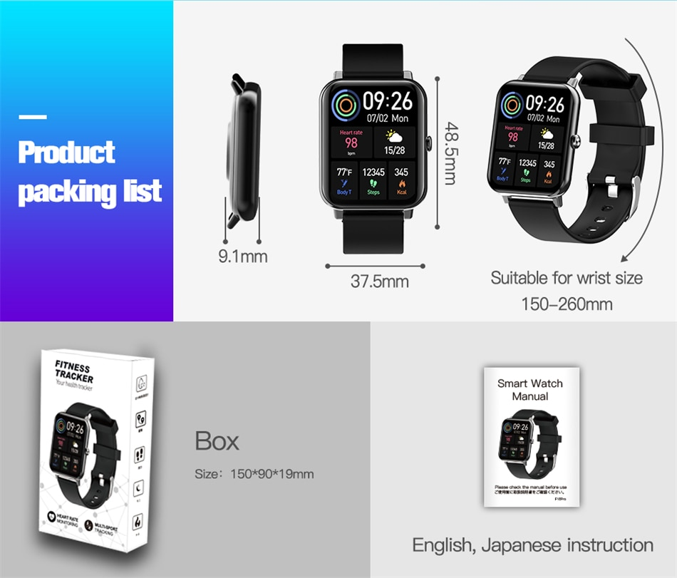 H078002b40cb441258b25becceb5e1b587 - LIGE New 1.69 Inch Full Touch Smart Watch Women Real-time Heart Rate Body Temperature Monitor IP67 Waterproof Smartwatch Ladies
