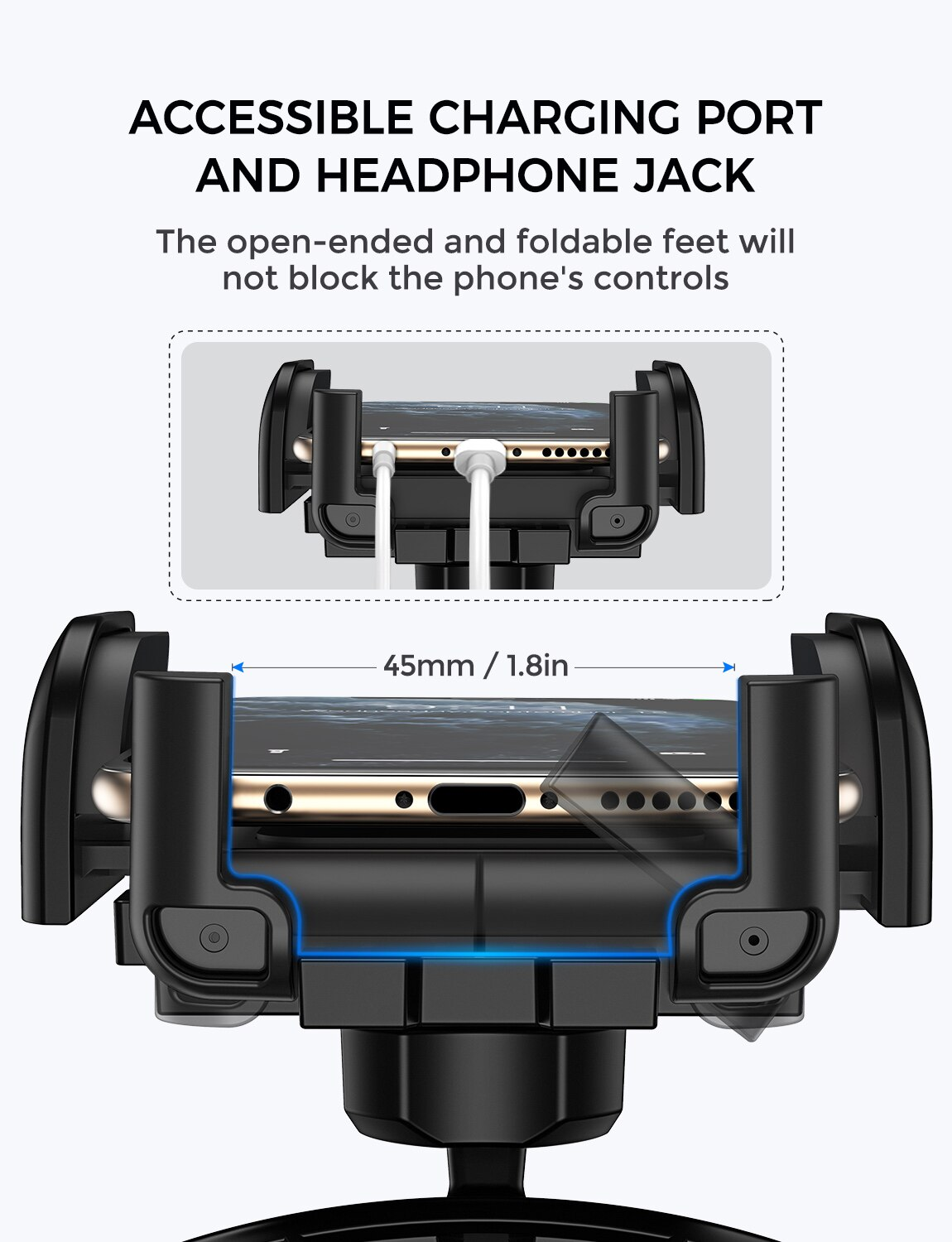 H0805b93ba8274babb1bf4e1489b9d0acX - Mpow 051 Car Phone Holder CD Slot Car Phone Mount with Three-Side Grip and One-Touch Design for iPhone 12/12Mini/12Pro/12Pro Max