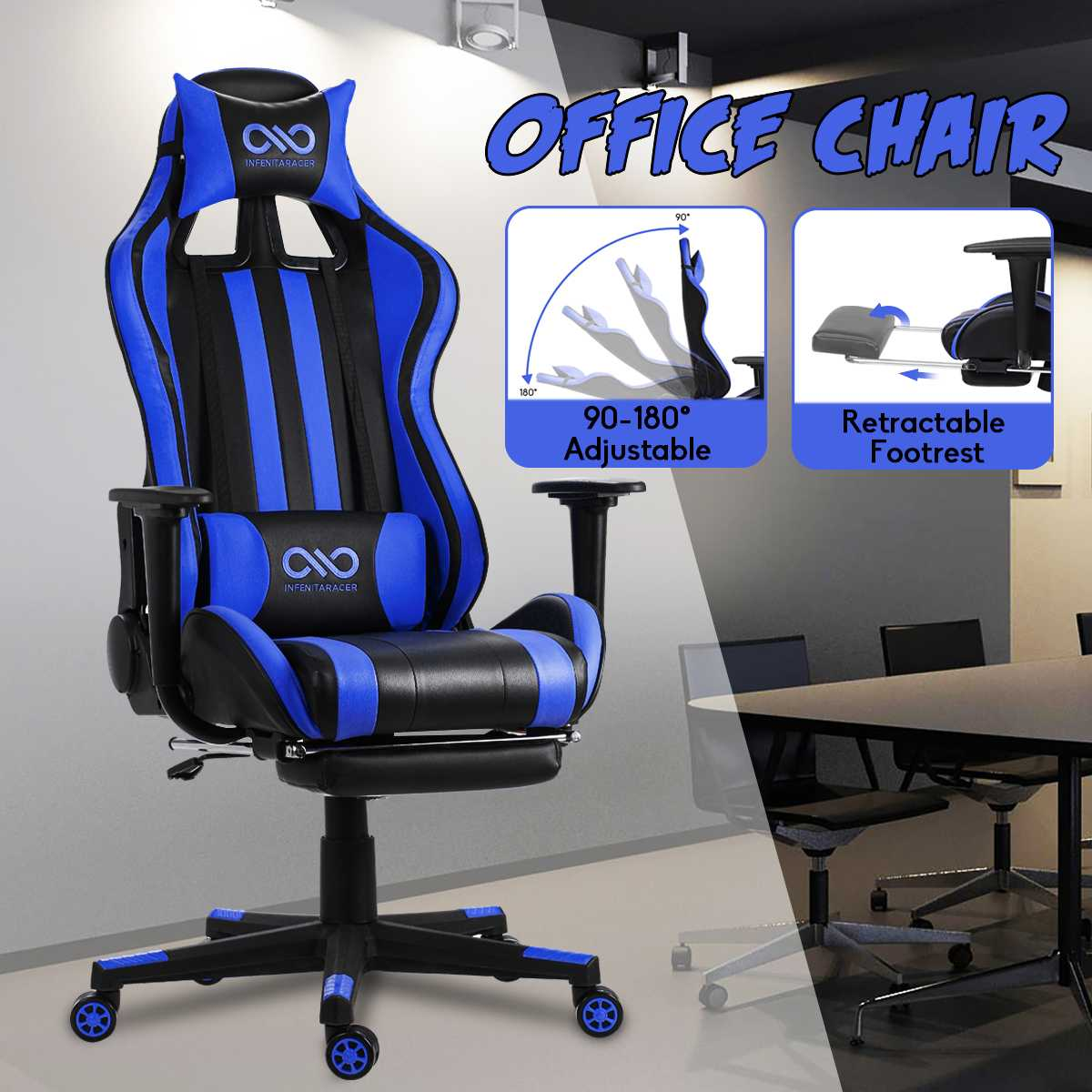 H0a2e494c9a9646a192333927b5ba58ccC - Office Gaming Chair PVC Household Armchair Lift and Swivel Function Ergonomic Office Computer Chair Wcg Gamer Chairs