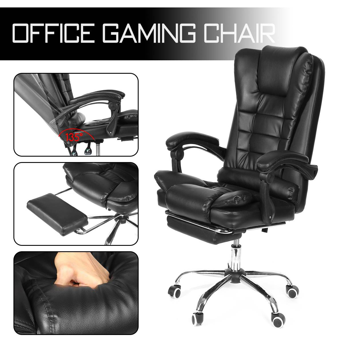 H0a5b2a174b50448abe15d7e9e75b0397b - WCG Gaming Chair Computer Armchair Office Chairs Home Swivel Massage Chair Lifting Adjustable Desk Chair Lying Recliner Chair