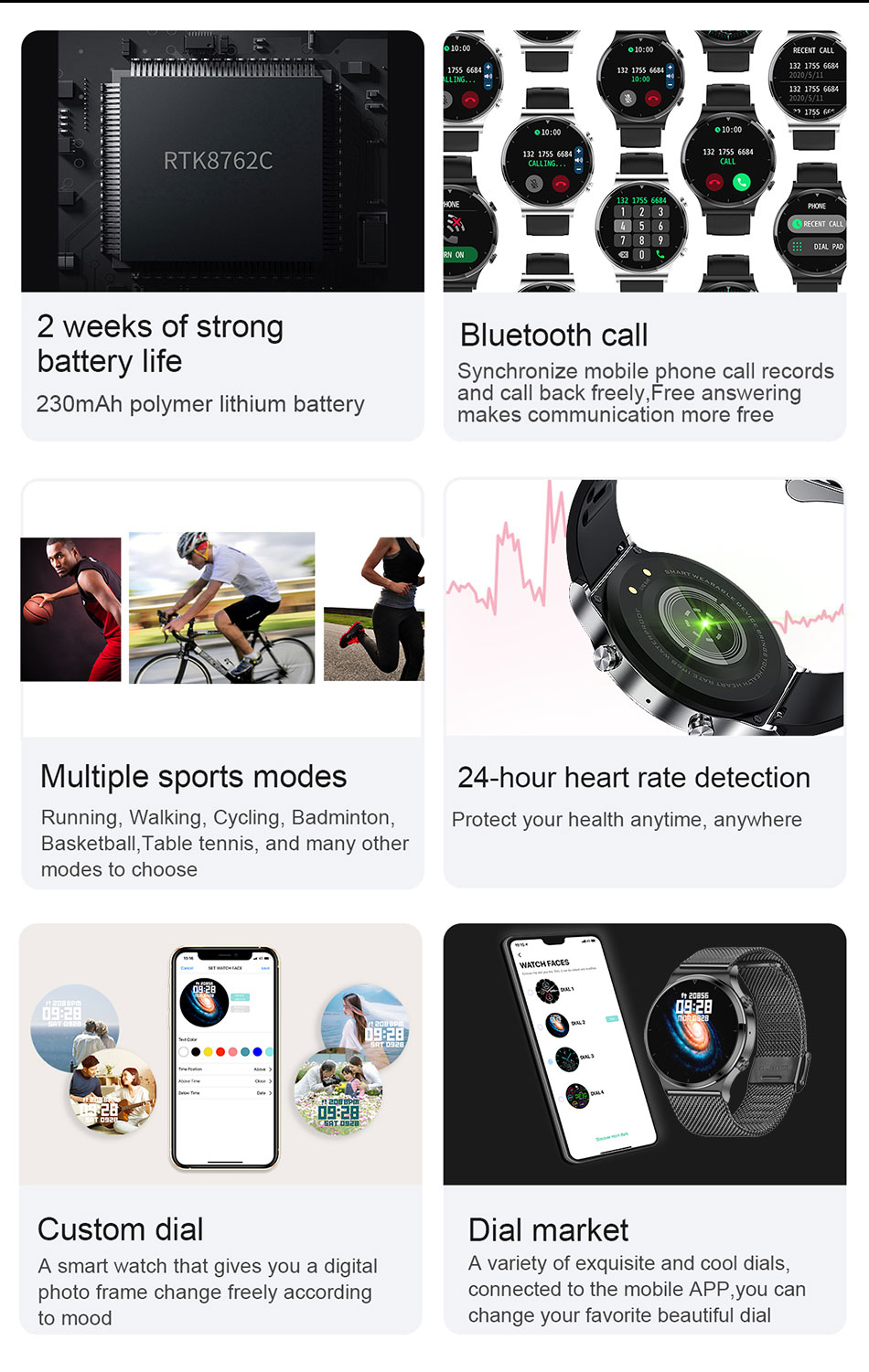 H0aacebd52e604656b1685af26b3aae33u - LIGE New Smart watch Men Heart rate Blood pressure Full touch screen sports Fitness watch Bluetooth for Android iOS smart watch
