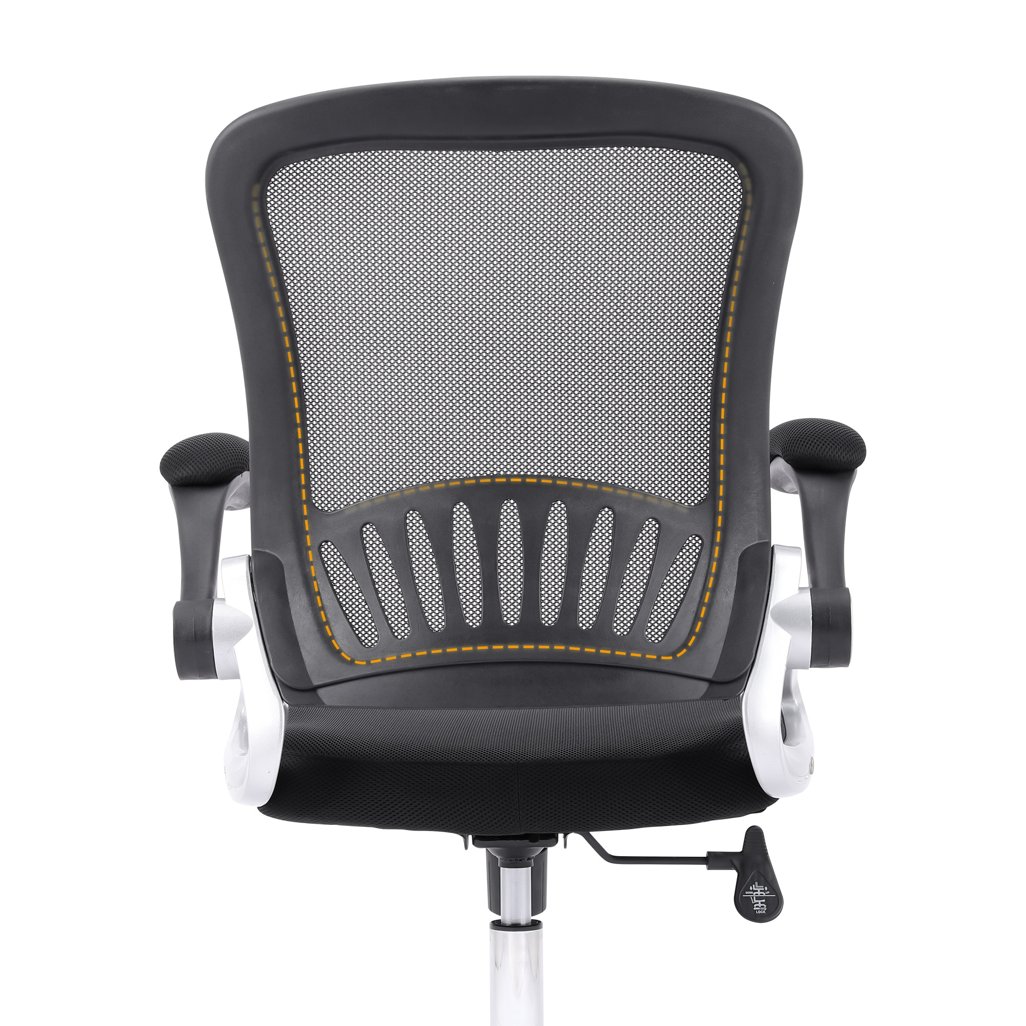H0ceab6f4a7c54ad3a605f976827a6839d - Sigtua Swivel Office Chair Height-adjustable Desk Chair Breathable PC Chair Comfortable Ergonomic Executive Computer Chair Black