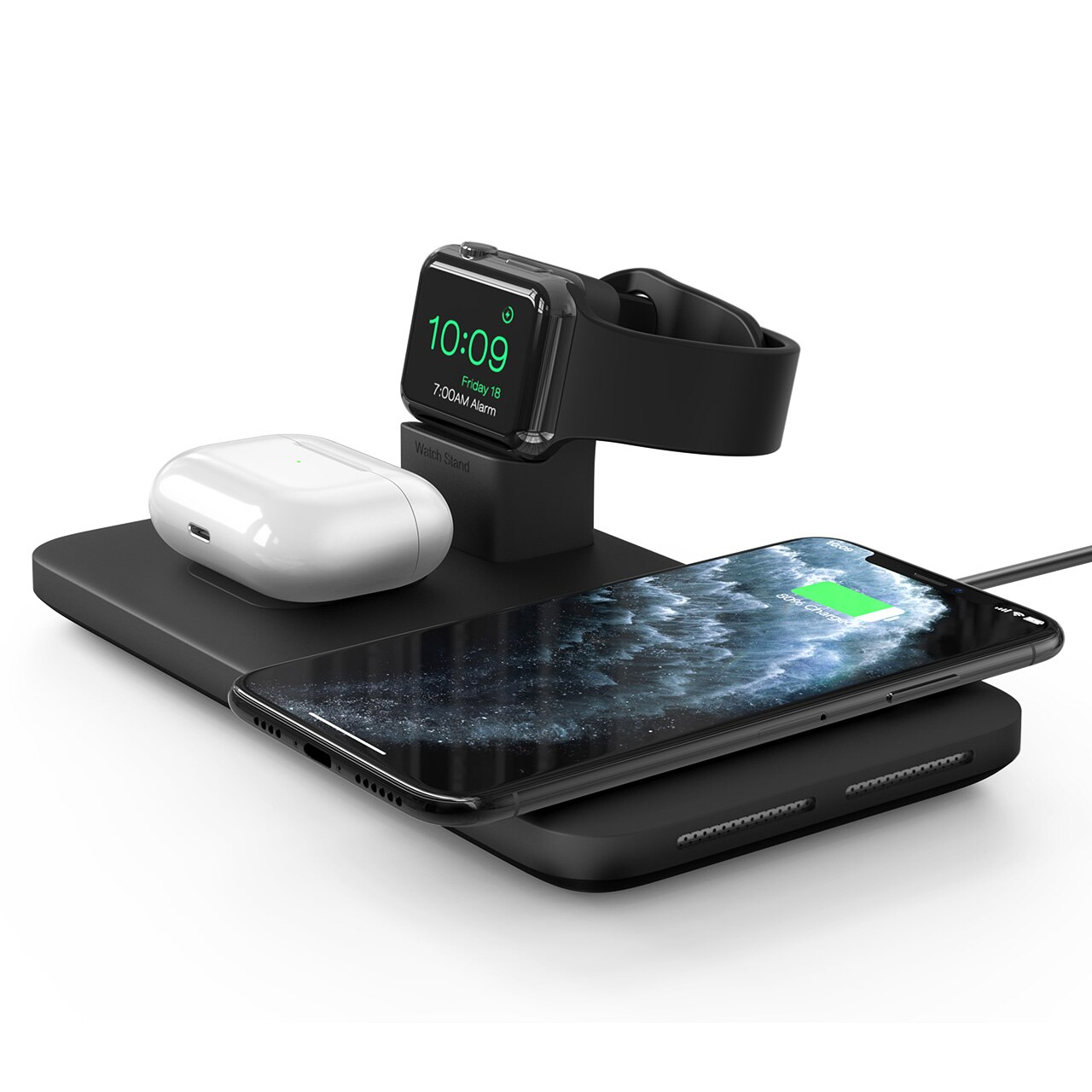 H0ceeed288ec54fa9a46f85c74cb3e552W - Seneo PA202 Wireless Charger 3 in 1 for iPhone 12 11 Wireless Charging Pad for AirPods Pro 2 Charging Dock for iWatch 5 4 3 2