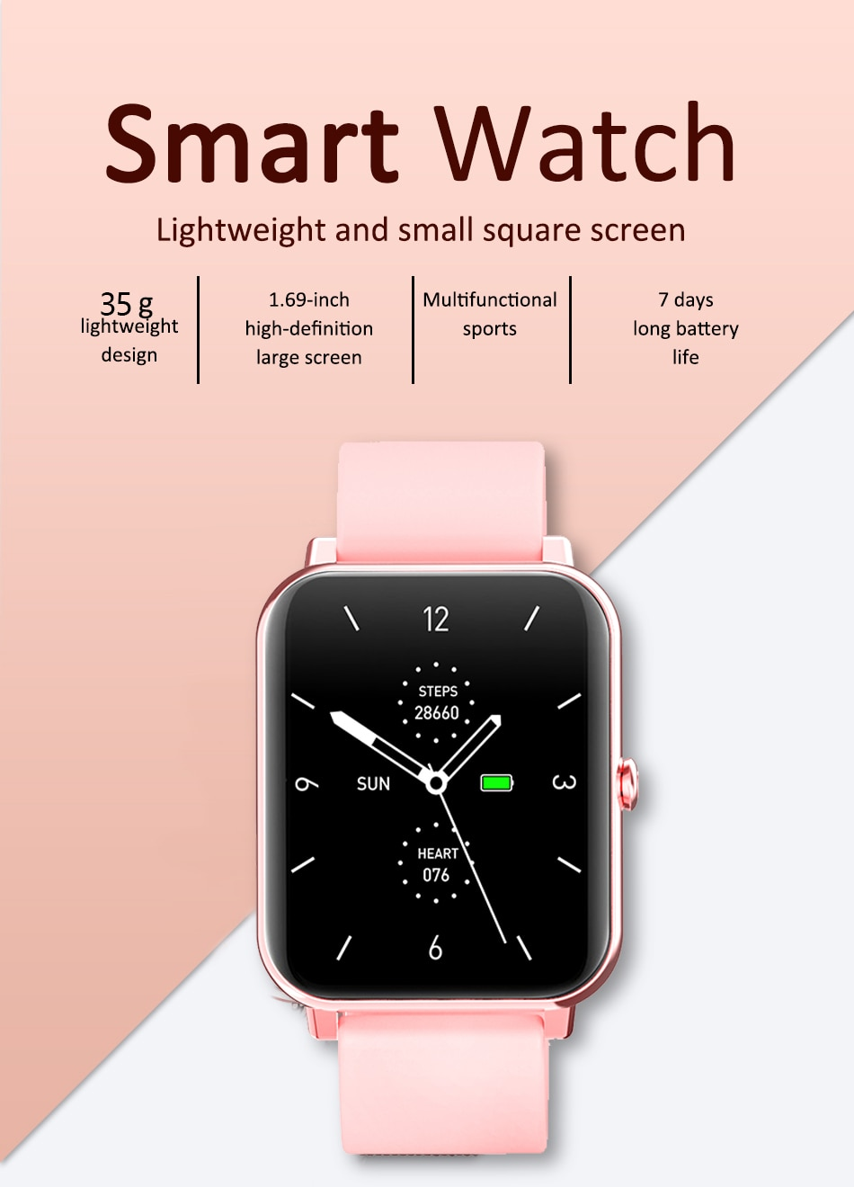 H0dce9bfad52049bdaa1d640065151599T - LIGE New 1.69 Inch Full Touch Smart Watch Women Real-time Heart Rate Body Temperature Monitor IP67 Waterproof Smartwatch Ladies