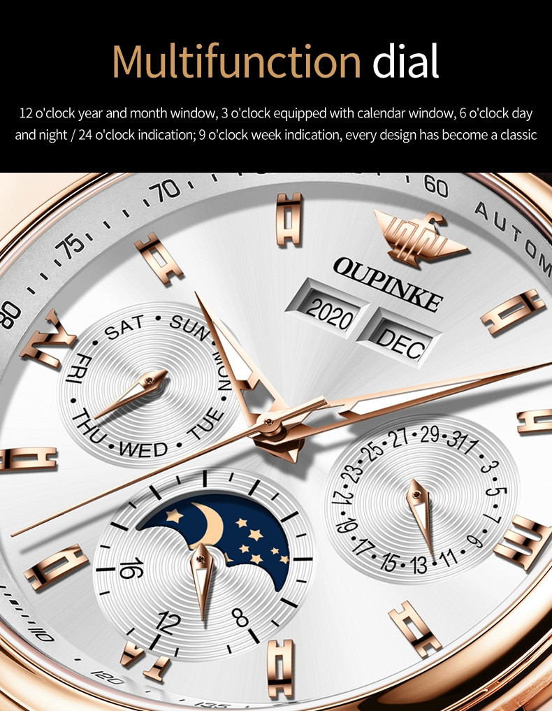 H1081fac206f7414f8d01b3dfc15cc818R - OUPINKE Men Mechanical Watch Luxury Automatic Watch Leather Sapphire Waterproof Sports Moon Phase Wristwatch Montre homme