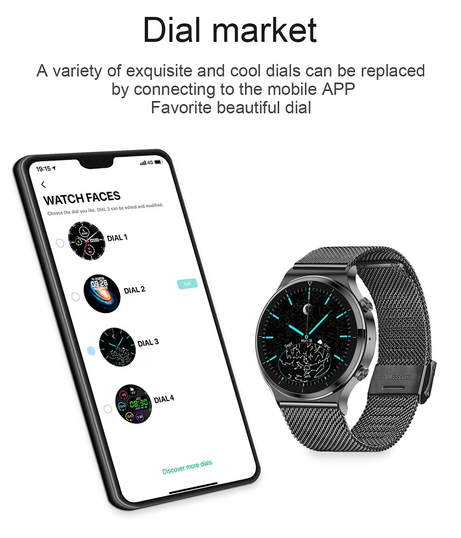 H129773abf70942c8b62ed02c2677d6a1r - LIGE New Smart watch Men Heart rate Blood pressure Full touch screen sports Fitness watch Bluetooth for Android iOS smart watch