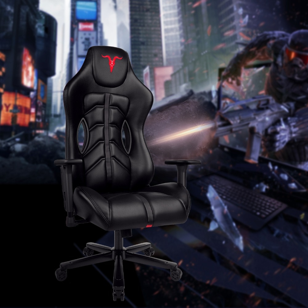 H15b054d52af64cefac504d9db0e46844Y - Furgle ACE Series Office Chair 4D Armrest Gaming Chair Larger Seat Wider Back Side Computer Chair Swivel Leather Armchair Home