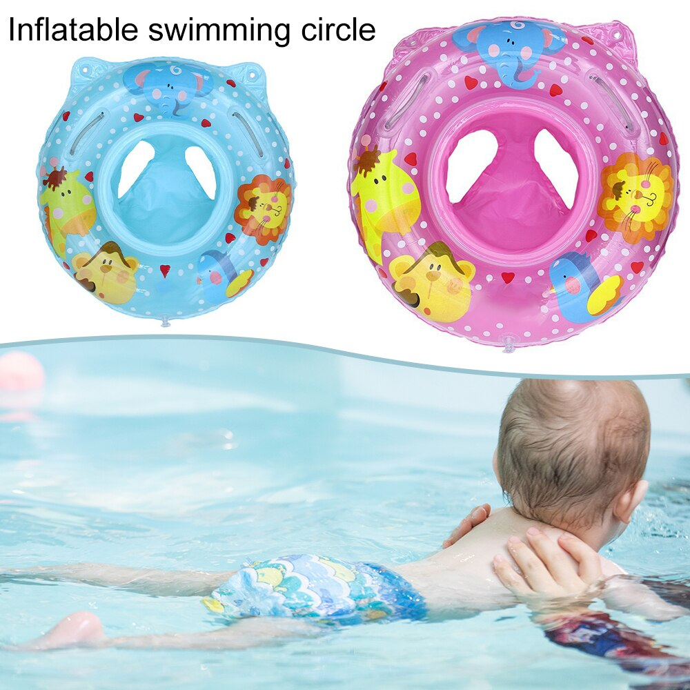 H15e0eb5e33a54cdaac36ab0cdce6194ft - Lnflatable Child Seat Swimming Ring Dual-Handle Safety Baby Seat Floating Water Toy Children Swimming Accessories