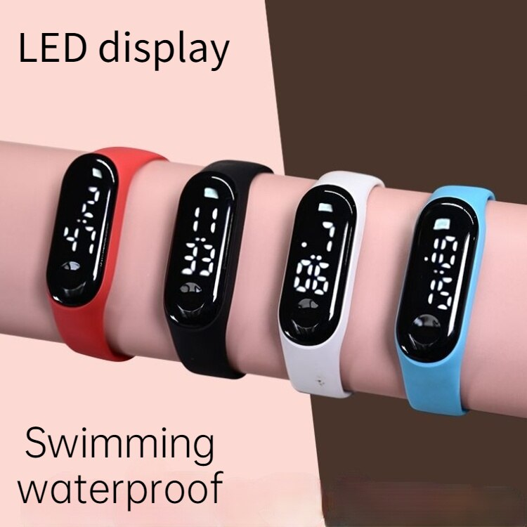 H1671c1f6ccc14408b489bf9256447d8d7 - M4 Men's Watch Women's Clock Heart Rate Blood Pressure Monitoring Tracker Fitness Wristband Bluetooth Connection Waterproof