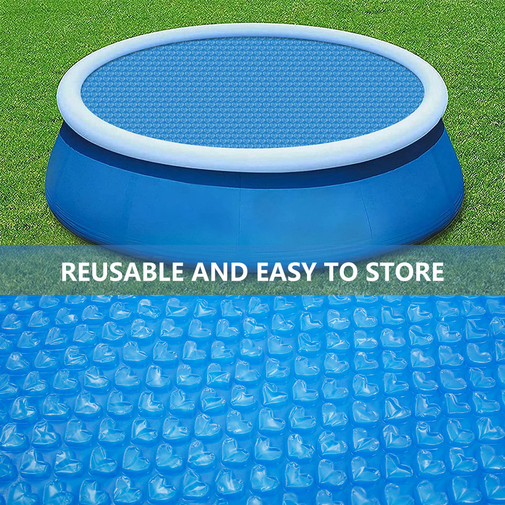 H17a48d2c2a5447878b230583861608b0m - Swimming Pool Solar Heat Shield Dustproof Cover Round Pool Protector Cover Frame Pool Mat Cover Pool Film Accessories