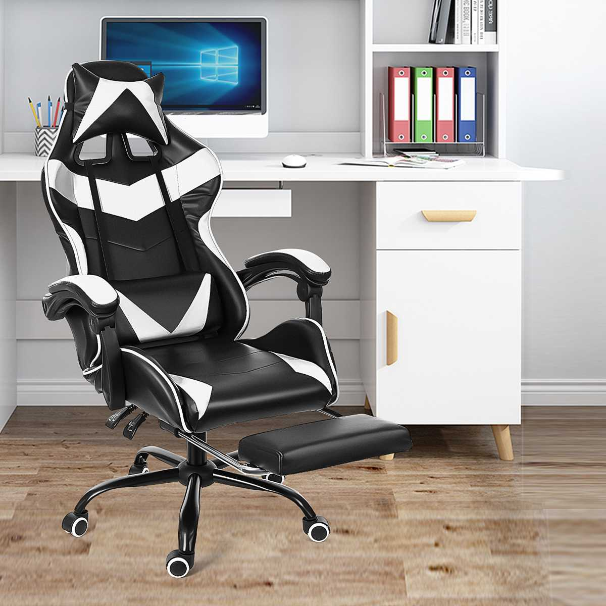 H1883bae1363d461391fd5fe205d337e8C - WCG Gaming Chair Computer Armchair Office Chairs Home Swivel Massage Chair Lifting Adjustable Desk Chair Lying Recliner Chair