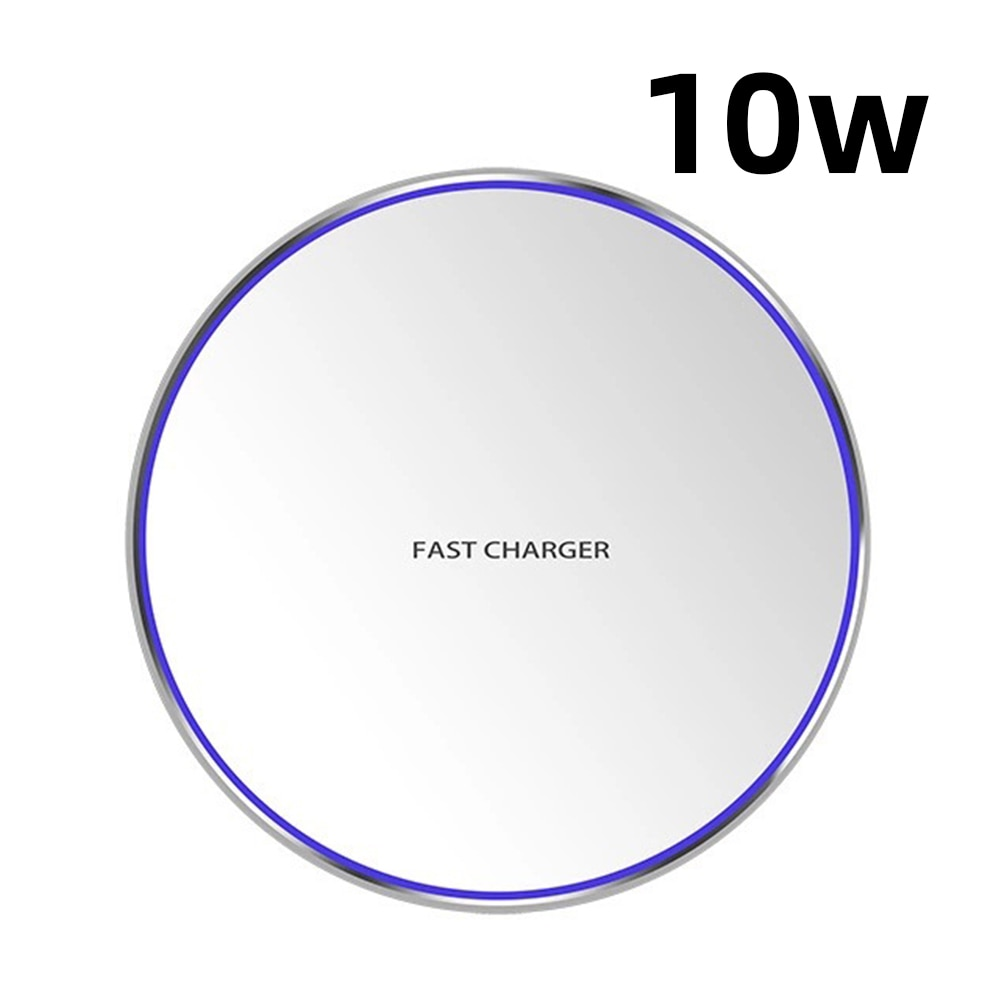 H18b32e816dfa4ebdb812856a7f3b8229H - Wireless Phone Charger 10W 15W Ultra Thin Desktop Tabletop Battery Quick Charge Fast Charger for Smartphone Aluminum Alloy