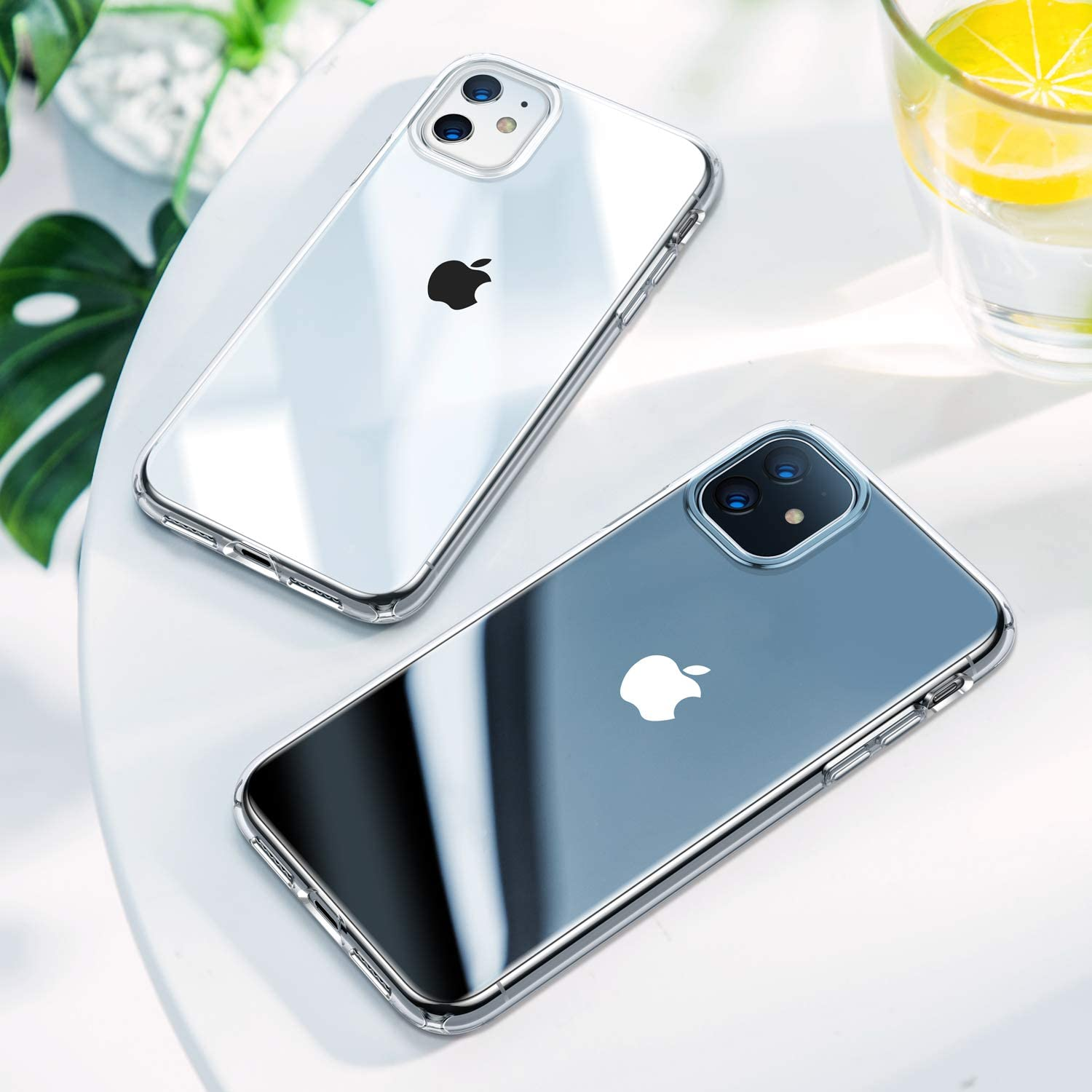 H19834f83b0dd4bfb926c80f4f56983493 - For iPhone XR 11 SE 2020 Case Crystal Clear Phone Case for iPhone SE 8 7 6s 6 5s 11 Pro Max Xs Max Case TPU Shockproof Cover