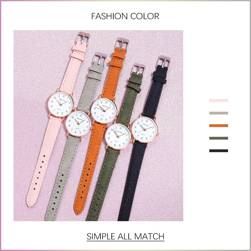 H19cefcc0c99e4fcaa8438d3af0d18feeQ - 2021 New Watch Women Fashion Casual Leather Belt Watches Simple Ladies' Small Dial Quartz Clock Dress Female Watch Reloj mujer