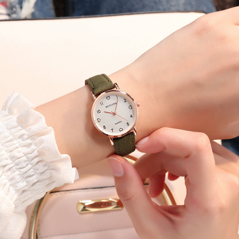 H1c8e5aa553ec48dc8b9a11061c5d0afdJ - Simple Vintage Women Small Dial Watch Sweet Leather Strap Wrist Watches Gift