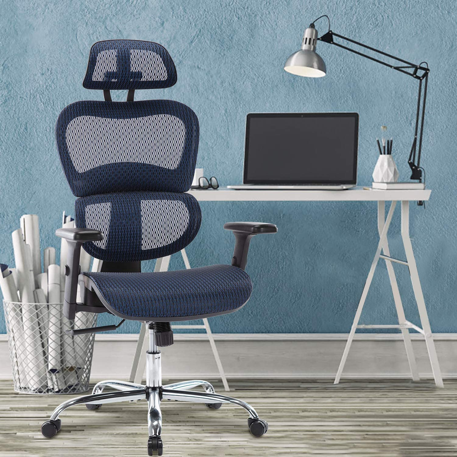 H1dc1527bf0924568a48449147c7316c0c - Office Chair Ergonomics Mesh Chair Computer Chair Desk Chair High Back Chair gaming chair With Adjustable Headrest and Armrests