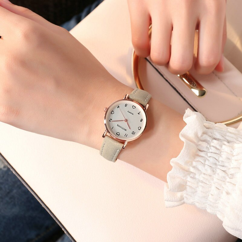 H1f14281c2a5543a1920abab67f03bf6f7 - Women Watches Simple Vintage Small Dial Watch Sweet Leather Strap Outdoor Sports Wrist Clock Gift