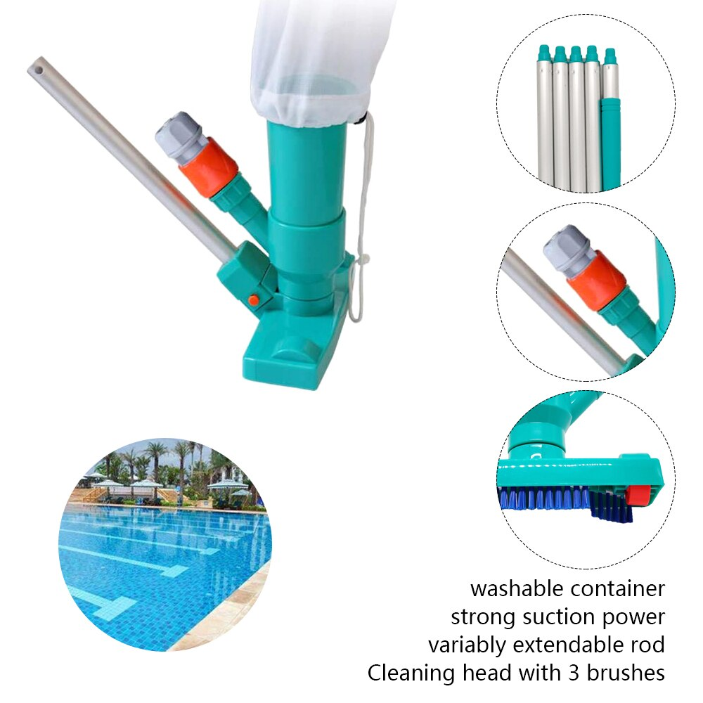 H1f95d96cdcb9428f81fe2946b3a4f387q - Hot ! Mini Jet Swimming Pool Vacuum Cleaner Tools set Objects Suction Fountain Pond Head Vacuum Brush Cleaner Cleaning Tools