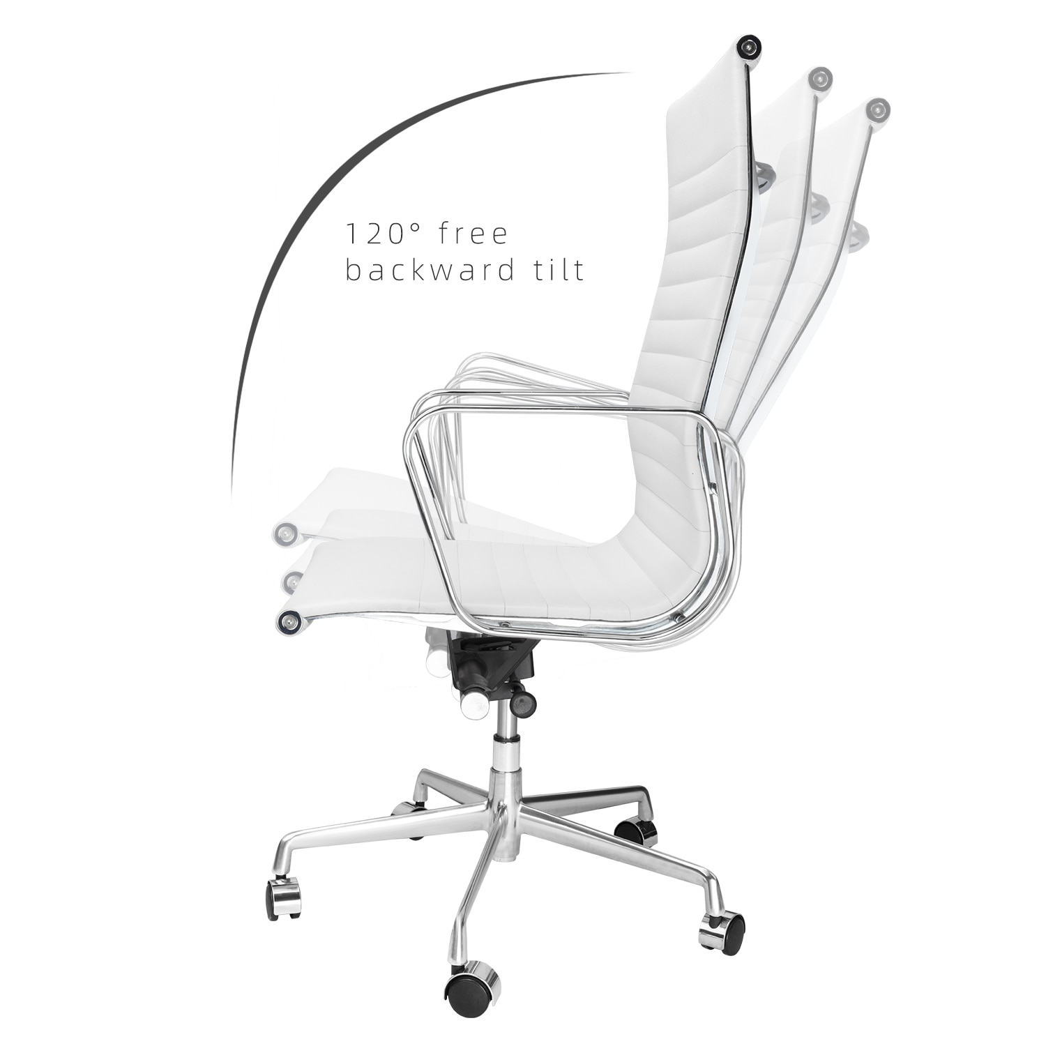 H20004cb8237c424ebd274afa48bdb1737 - High Back Aluminium Group Office Chair Replica Swivel Chair with Armrests Chromed Base Gaming Chair for Office Meeting Room