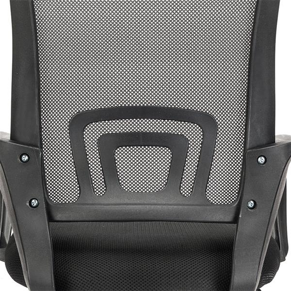 H20639f876b36433ca3abaae76e95e280w - Mesh Back Office Chair Gas Lift Adjustable Height Swivel Chair Durable Plastic Armrests White&Black[US-Stock]