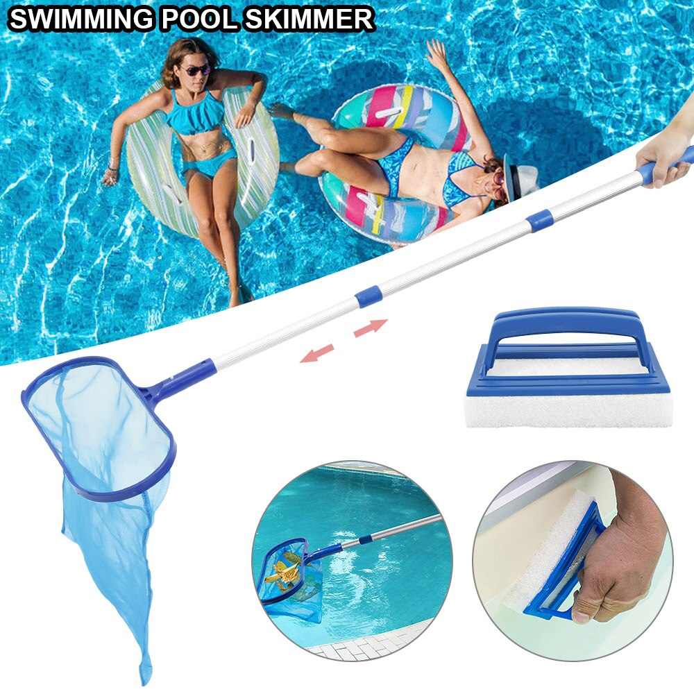 H20d73caa0ae94b2794a43ac53dbce0a4D - Swimming Pool Net Tool Shallow/Deep Water Fishing Net Pool Cleaning Net Equipment Home Outdoor Fishing Pool Cleaner Accessories