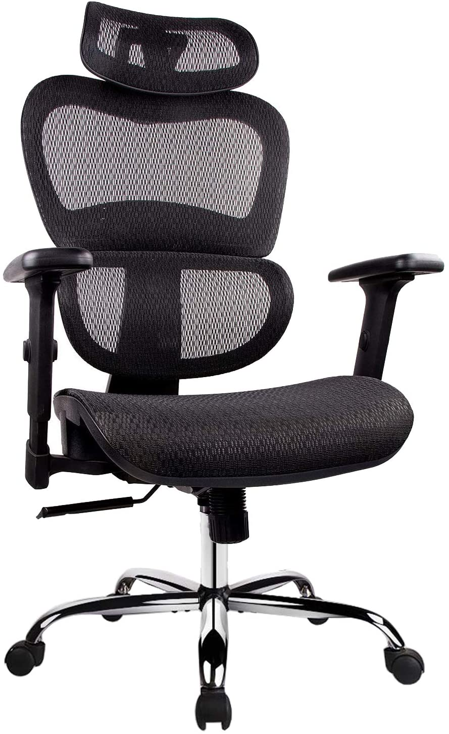 H21e04005e817423781bd422c21658d34I - Office Chair Ergonomics Mesh Chair Computer Chair Desk Chair High Back Chair gaming chair With Adjustable Headrest and Armrests