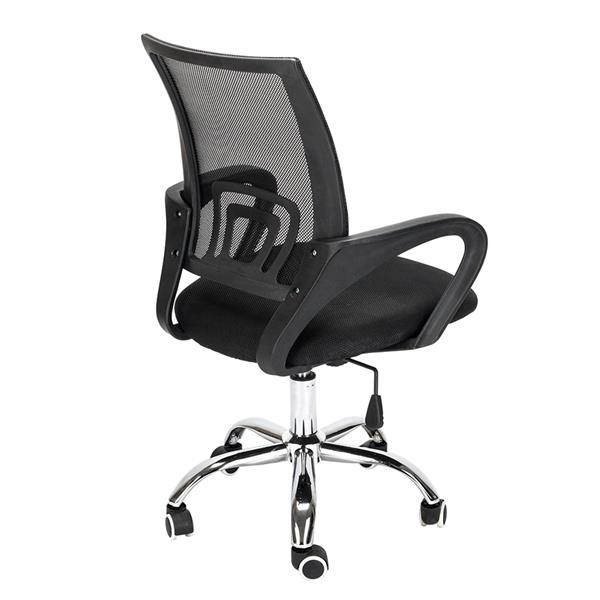 H22da3109acc84d3eb8e76e32ebbd3b9df - Mesh Back Office Chair Gas Lift Adjustable Height Swivel Chair Durable Plastic Armrests White&Black[US-Stock]