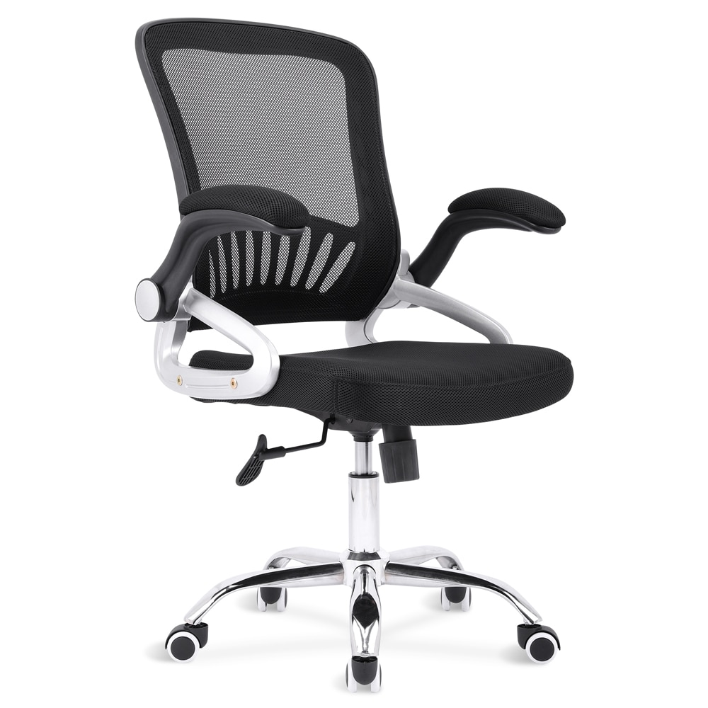 H23c81e31fbe948dcab2f988a9ef79a073 - Sigtua Swivel Office Chair Height-adjustable Desk Chair Breathable PC Chair Comfortable Ergonomic Executive Computer Chair Black