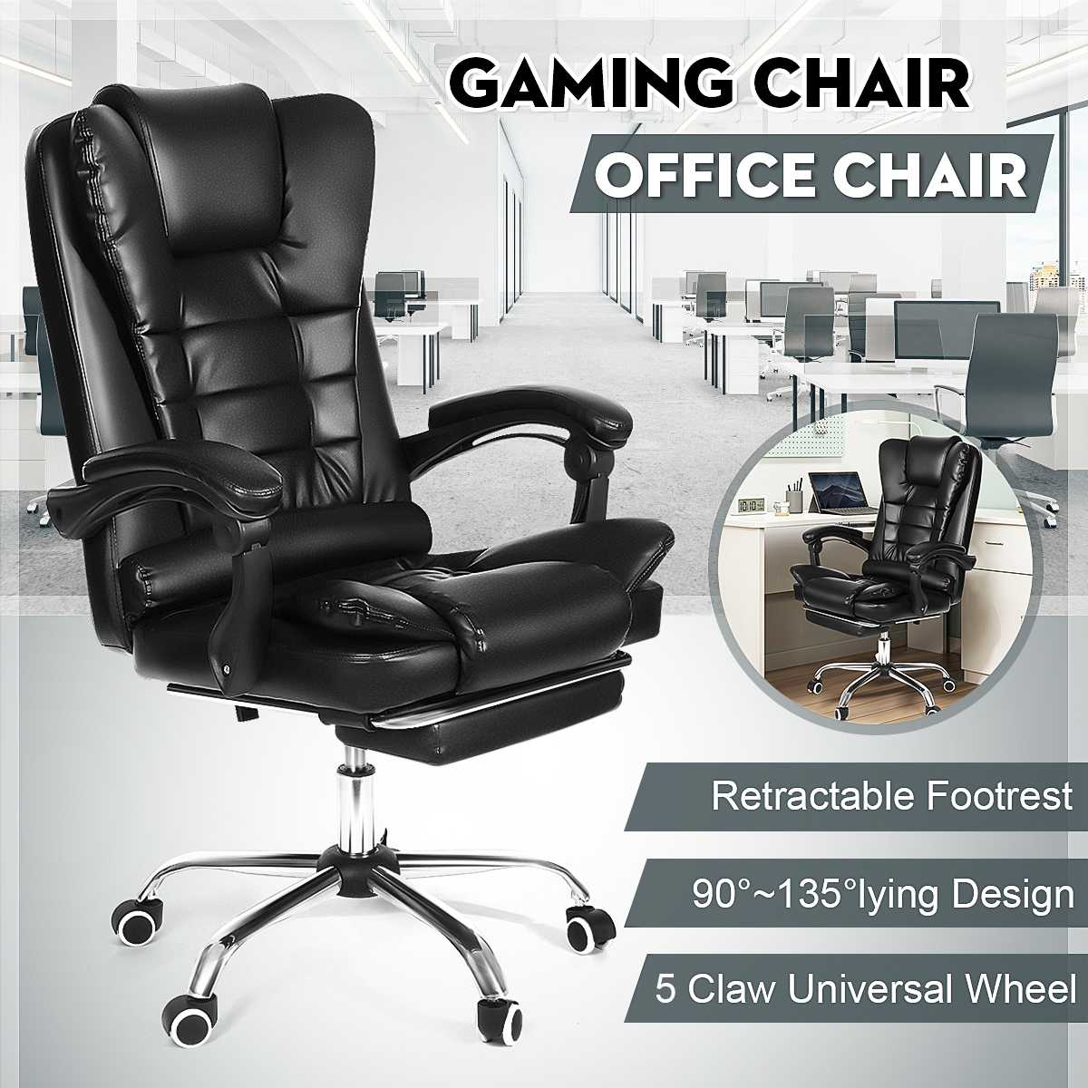 H25473f475bb9407585347329c52ed827Z - Office Chair WCG Computer Gaming Chair Reclining Armchair with Footrest Internet Cafe Gamer Chair Office Furniture Pink Chair