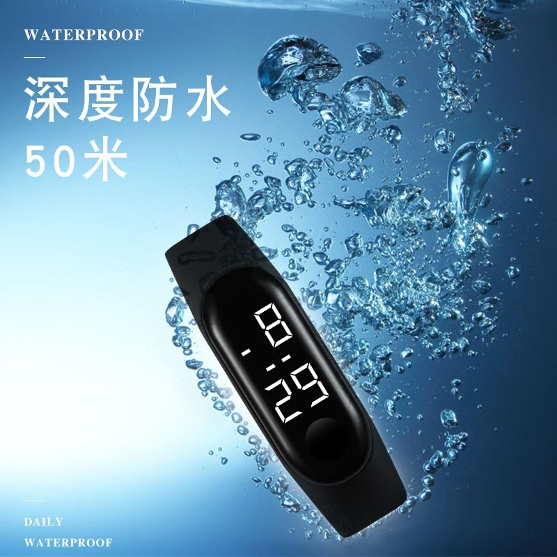 H256550989e6e41c9ad1df8932b3ac0baj - M4 Men's Watch Women's Clock Heart Rate Blood Pressure Monitoring Tracker Fitness Wristband Bluetooth Connection Waterproof