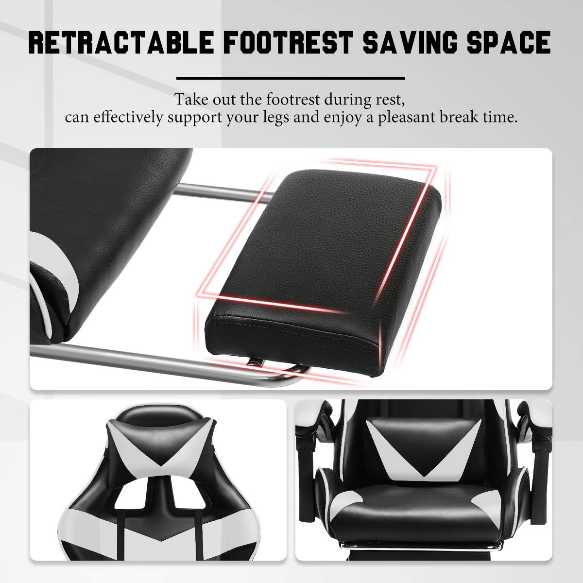 H258886c894164902a0c875a10596d5e5Y - Leather Office Gaming Chair Home Internet Cafe Racing Chair WCG Gaming Ergonomic Computer Chair Swivel Lifting Lying Gamer Chair