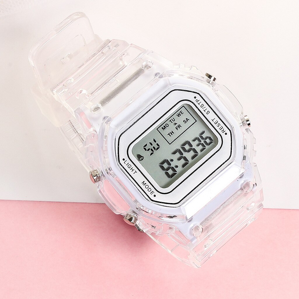 H25e8bacd613541d2a140df5345128361m - New Fashion Transparent Electronic Watch LED Ladies Watch Sports Waterproof Electronic Watch Candy Multicolor Student Gift