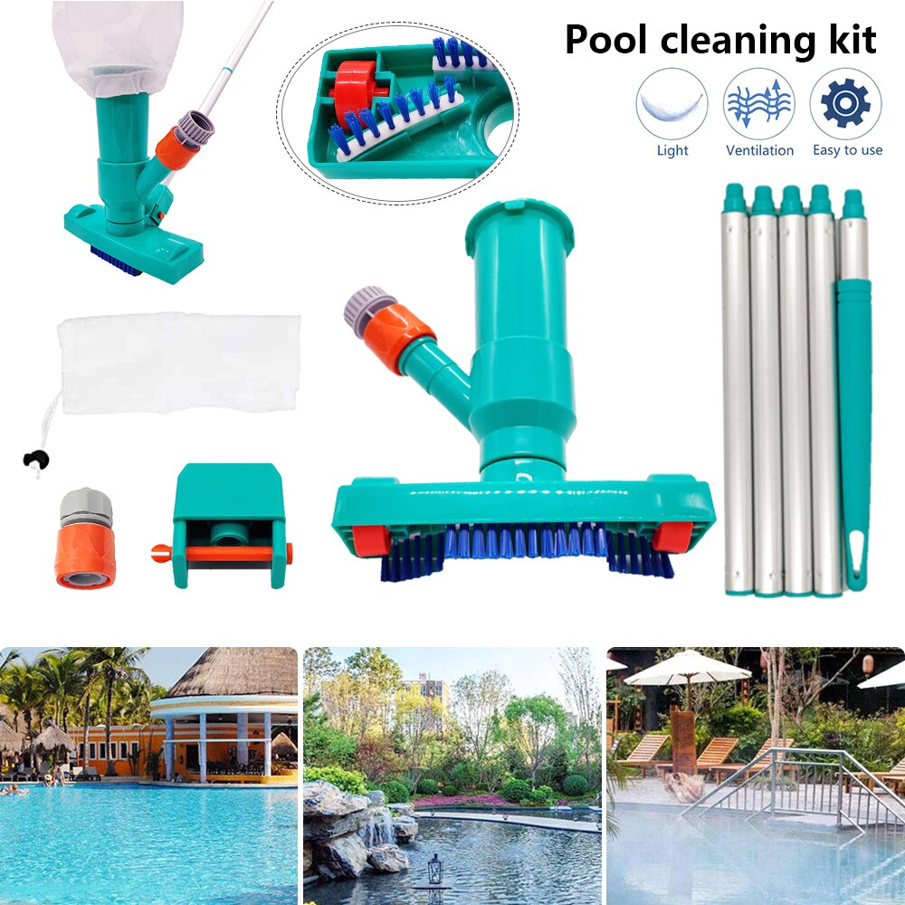 H29653fab99794112ac61c73a8177250be - Hot ! Mini Jet Swimming Pool Vacuum Cleaner Tools set Objects Suction Fountain Pond Head Vacuum Brush Cleaner Cleaning Tools