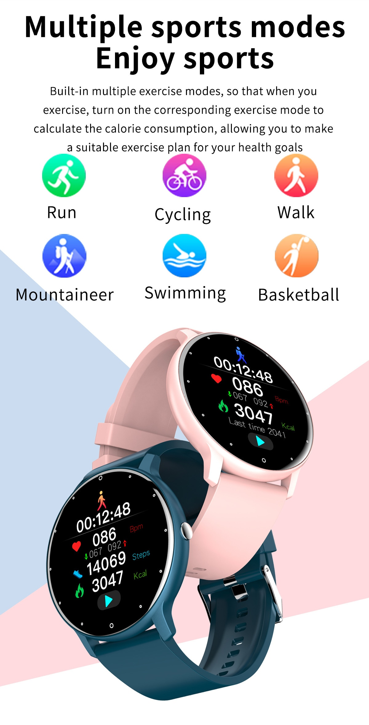 H29d98308ab7541718dd85b46c6d3219b5 - LIGE 2021 New Men Smart Watch Real-time Activity Tracker Heart Rate Monitor Sports Women Smart Watch Men Clock For Android IOS