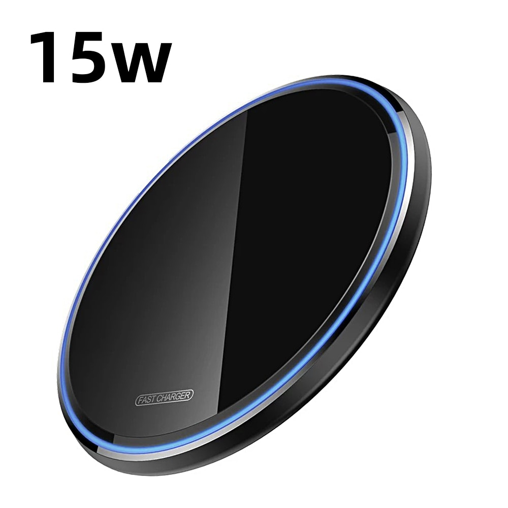 H2c035a6be7e24ae09d1bfe00dbf82daaC - Wireless Phone Charger 10W 15W Ultra Thin Desktop Tabletop Battery Quick Charge Fast Charger for Smartphone Aluminum Alloy