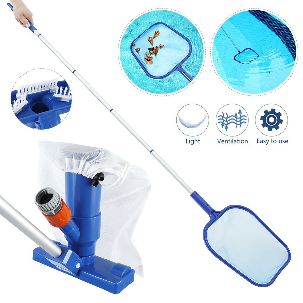 H2d49134dddef43ef8d469508e1149f64W - Swimming Pool Vacuum Cleaner Cleaning Tool Kit Suction Spary Jet Cleaner Head with Net for Swimming Pool Spa Pond Fountain