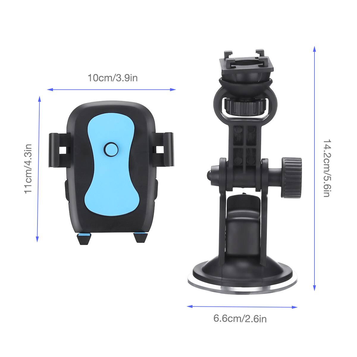 H2d60a305d9704abfbe5200a9d60b04674 - 360 Degree Rotatable Car Phone Holder For 2.4 to 3.4inch Phone Mount Stand in Car Bracket For Poco x3 pro iPhone Xiaomi Samsung