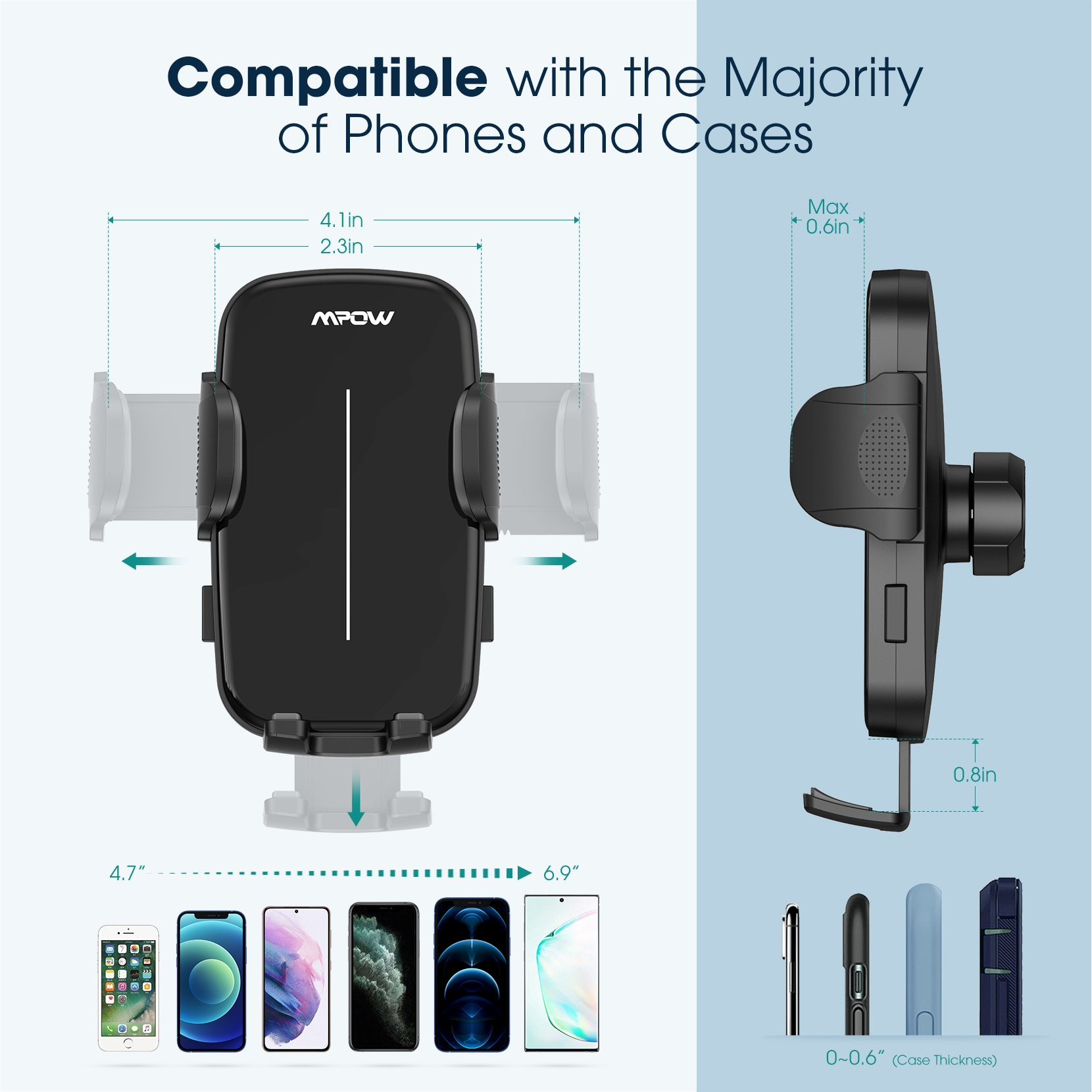 H2e0827644c604a419eb8b1805c5d69c41 - Mpow CA174 Universal Car Phone Mount Air Vent Car Phone Holder with Stable Clip Compatible with iPhone 12 11 Pro Max XS 8 Galaxy