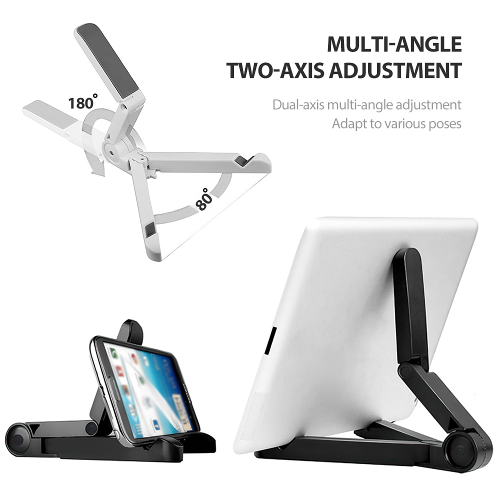 H2e51b77165f64e98ab51bc692fb9dd3aF - Mobile Phone Holder Tablet Computer Support Folding Triangle Bracket Desktop Stand Portable Multi Use for Smartphone iPad Office
