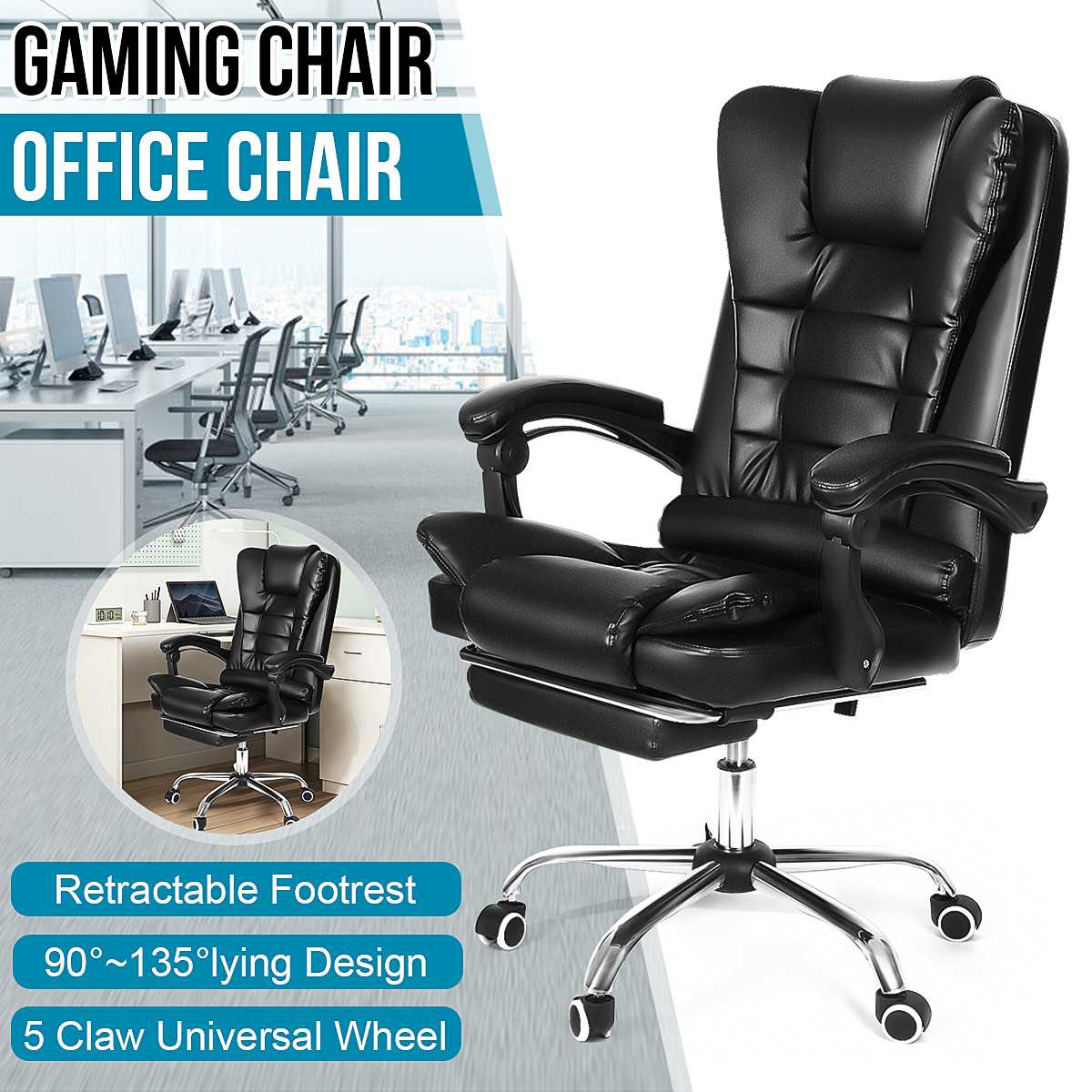 H2e95d6bf410f445d802b59a7d2bebf7e6 - Office Chair WCG Computer Gaming Chair Reclining Armchair with Footrest Internet Cafe Gamer Chair Office Furniture Pink Chair